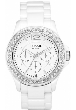 FOSSIL Ceramic Bracelet Watch, White 38mm