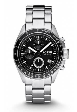 FOSSIL Decker Chronograph Stainless Steel Watch 44mm