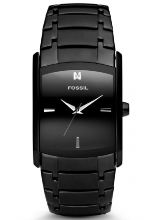 FOSSIL Dress Three Hand Rectangle Stainless Steel Watch 34mm x 45mm