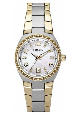 FOSSIL Fossil Crystal Dial Watch, Two Tone 28mm