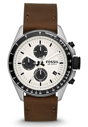 FOSSIL Fossil Men ́s Decker Leather Chronograph Watch 44mm