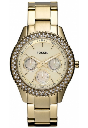 FOSSIL Fossil 'Stella' Crystal Bezel Bracelet Watch, Gold 37mm