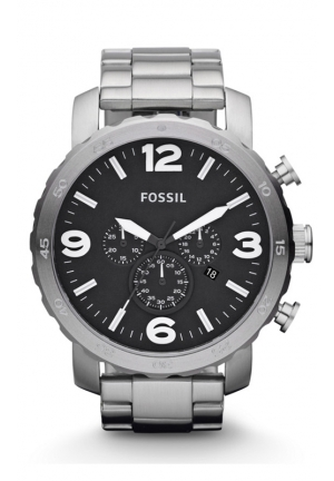 FOSSIL Fossil Watch, Men's Chronograph Nate Stainless Steel Bracelet 50mm