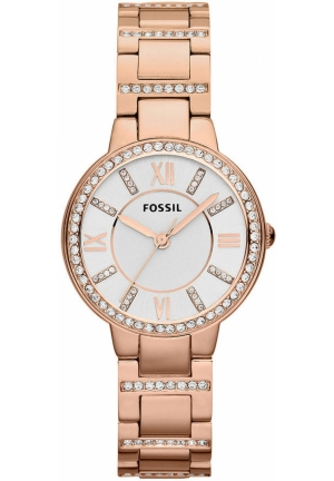 FOSSIL Fossil Watch, Women's Virginia Rose Golde Stainless Steel Bracelet 30mm-Ton