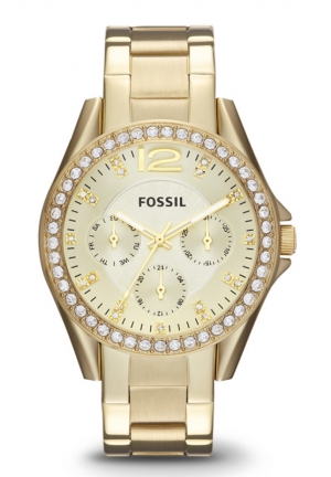 FOSSIL Fossil Women's Riley Multifunction Gold-Tone Stainless Steel Watch 38mm