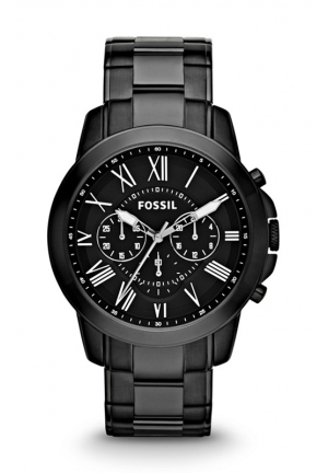 FOSSIL Grant Chronograph Stainless Steel Watch - Black 44mm