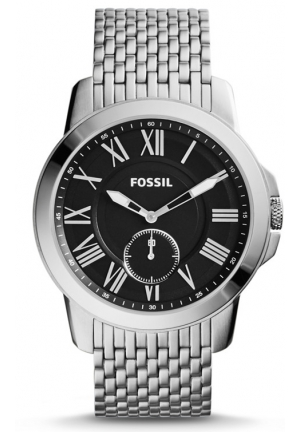 FOSSIL Grant Slim Three-Hand Stainless Steel Watch 44mm