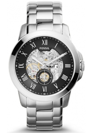 FOSSIL Grant Three-Hand Automatic Stainless Steel Watch 44mm