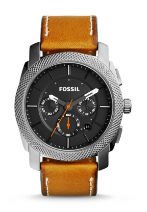 FOSSIL Machine Chronograph Leather Watch - Tan 44mm