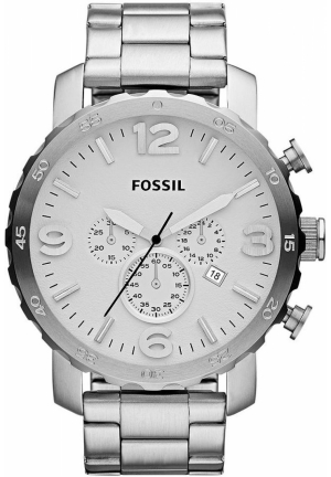 FOSSIL Men's Chronograph Nate Stainless Steel Bracelet 50mm