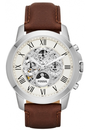 FOSSIL Men's Grant Analog Display Automatic Self Wind Brown Watch 44mm