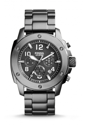 FOSSIL Modern Machine Chronograph Stainless Steel Watch - Smoke 45mm