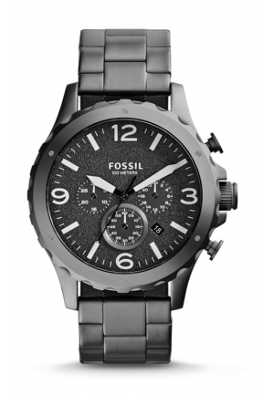 FOSSIL Nate Chronograph Stainless Steel Watch - Smoke 46mm