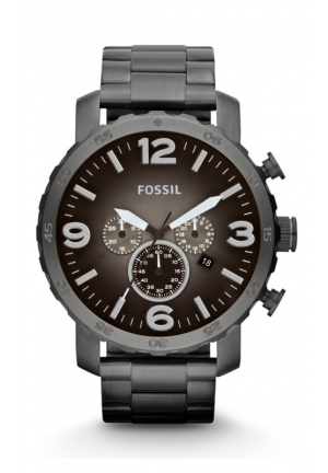 FOSSIL Nate Chronograph Stainless Steel Watch - Smoke 50mm