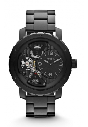 FOSSIL Nate Twist Stainless Steel Watch - Black 46mm
