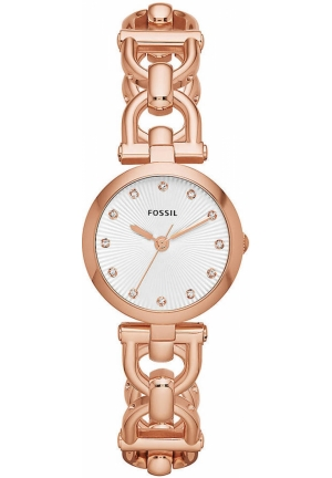 FOSSIL Olive Rose Gold-Tone & Crystal Watch 28mm