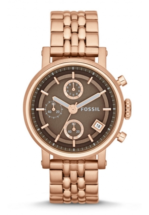 FOSSIL Original Boyfriend Chronograph Stainless Steel Watch - Rose 38mm