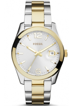 FOSSIL perfect Boyfriend Three-Hand Date Stainless Steel Watch – Two-Tone 39mm