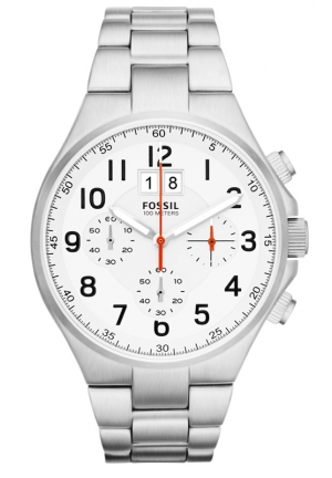 FOSSIL Qualifier Chronograph Stainless Steel Watch 46mm
