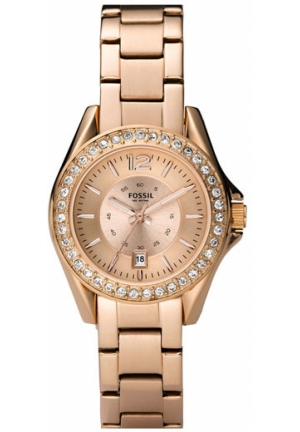 FOSSIL Round Bracelet Watch, Rose Gold 30mm