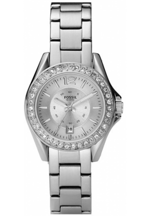 FOSSIL Round Bracelet Watch, Silver 30mm