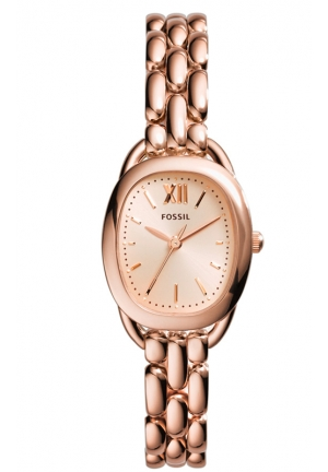 FOSSIL Sculptor Three-Hand Stainless Steel Watch -Rose 28mm