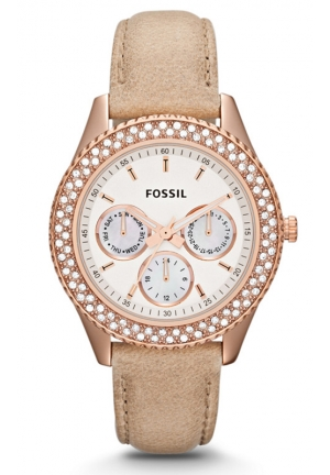 FOSSIL Stella Multifunction Leather Watch 37mm