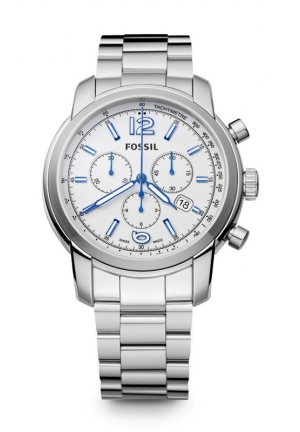 FOSSIL Swiss Made Chronograph Stainless Steel Watch 45mm