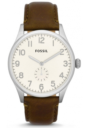 FOSSIL The Agent Three-Hand Leather Watch 42mm
