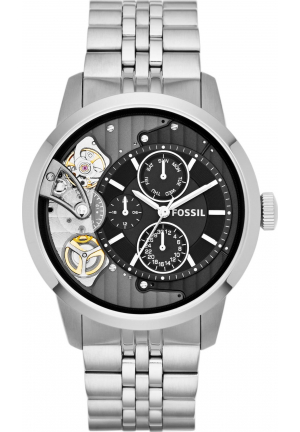 FOSSIL TOWNSMAN BLACK MULTIFUNCTION WATCH 44MM