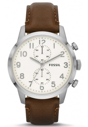 FOSSIL Townsman Chronograph Brown Leather Watch 44mm