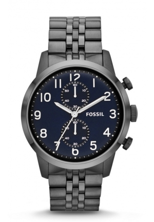 FOSSIL Townsman Chronograph Stainless Steel Watch - Smoke 44mm