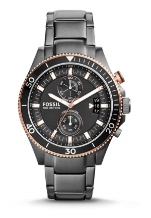 FOSSIL Wakefield Chronograph Stainless Steel Watch - Smoke 45mm