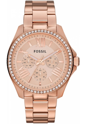 FOSSIL Women's Cecile Rose Gold-Tone Stainless Steel Bracelet 40mm