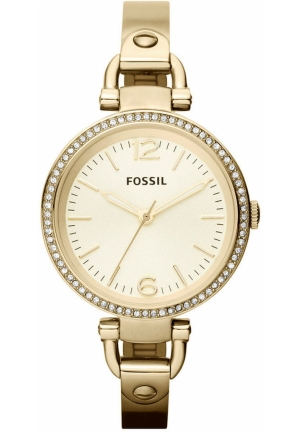 FOSSIL Women's Georgia Gold-Tone Stainless Steel Bangle Bracelet 32mm