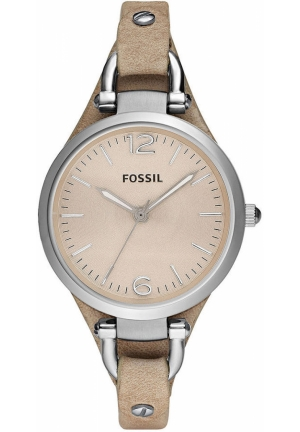 FOSSIL Women's Georgia Sand Leather Strap 32mm