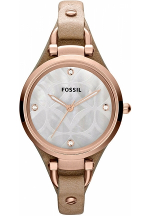 FOSSIL Women's Georgia Tan Leather Strap 32mm
