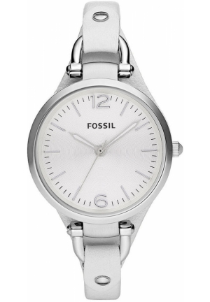 FOSSIL Women's Georgia White Leather Cuff Strap 32mm