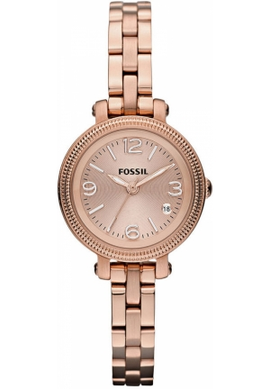 FOSSIL Women's Heather Mini Rose Gold-Tone Stainless Steel Bracelet 26mm