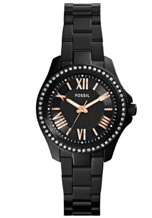 FOSSIL Women's Mini Cecile Black-Tone Stainless Steel Bracelet Watch 29mm