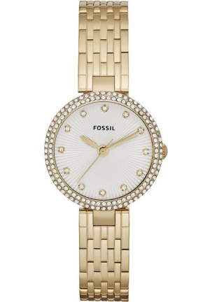 FOSSIL Women's Olive Gold-Tone Stainless Steel Bracelet 28mm