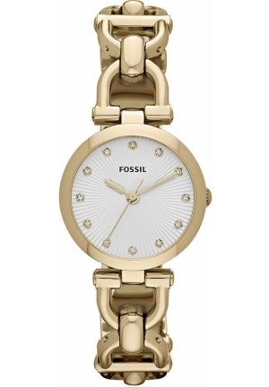 FOSSIL Women's Olive Gold-Tone Stainless Steel D-Link Bracelet 28mm