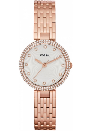 FOSSIL Women's Olive Rose Gold-Tone Stainless Steel Bracelet 28mm