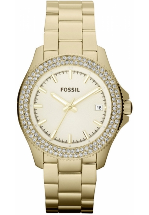 FOSSIL Women's Retro Traveler Gold-Tone Stainless Steel Bracelet 36mm