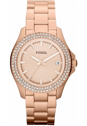 FOSSIL Women's Retro Traveler Rose Gold-Tone Stainless Steel Bracelet 36mm