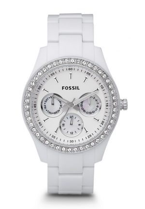 FOSSIL Women's Stella White Resin Bracelet 37mm