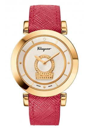 SALVATORE FERRAGAMO Minuetto Analog Display Swiss Quartz Pink Watch, 36mm