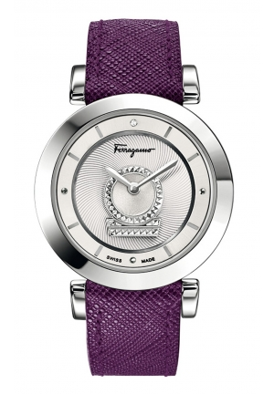 MINUETTO ANALOG DISPLAY SWISS QUARTZ PURPLE WATCH, 36MM