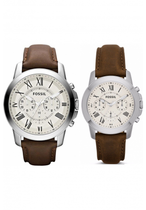 Fossil Couple Bwown Leather