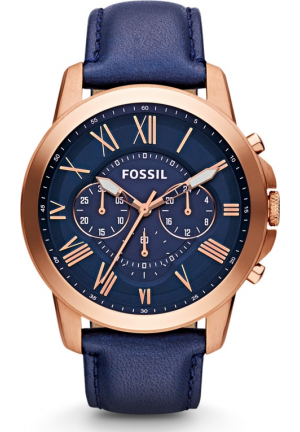 FOSSIL 'GRANT' ROUND CHRONOGRAPH WATCH, 44MM NAVY